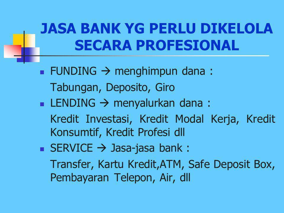 FUNGSI BANK UMUM (2) 1. AGENT OT TRUST > Percaya dari masyarakat kepada Bank > Percaya dari Bank kepada masyarakat 2. AGENT OF DEVELOPMENT Memperlanca