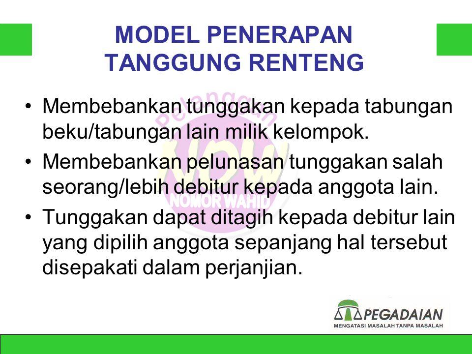 SYARAT AGAR POLA TANGGUNG RENTENG EFEKTIF •Anggota bersedia menjaminkan harta pribadi. •Anggota memiliki kegiatan usaha.