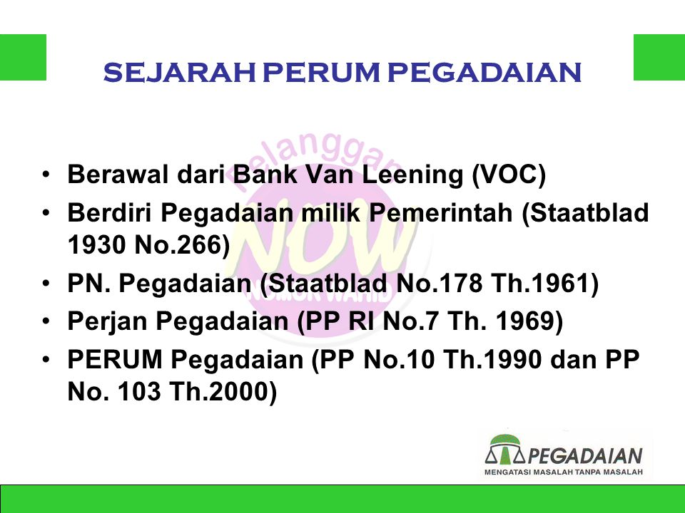 Muh. Andi Ibrahim Manajer Cabang PERUM Pegadaian Pontianak Jl.HOS Cokroaminoto No. 264 Pontianak – Kalimantan Barat Telp. (0561)732981/ 0811 54 1221