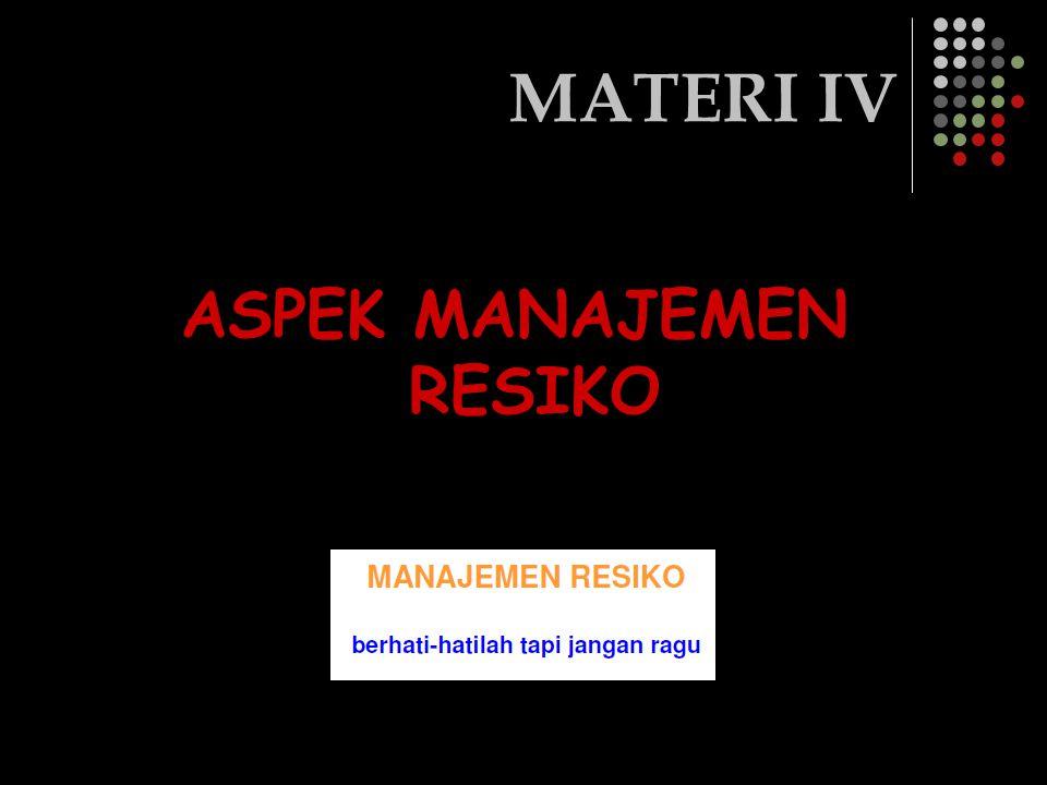 MATERI IV ASPEK MANAJEMEN RESIKO