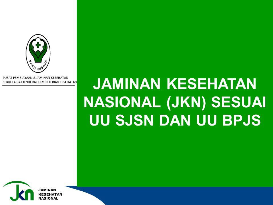 JAMINAN KESEHATAN NASIONAL JAMINAN KESEHATAN NASIONAL (JKN) SESUAI UU SJSN DAN UU BPJS PUSAT PEMBIAYAAN & JAMINAN KESEHATAN SEKRETARIAT JENDERAL KEMEN