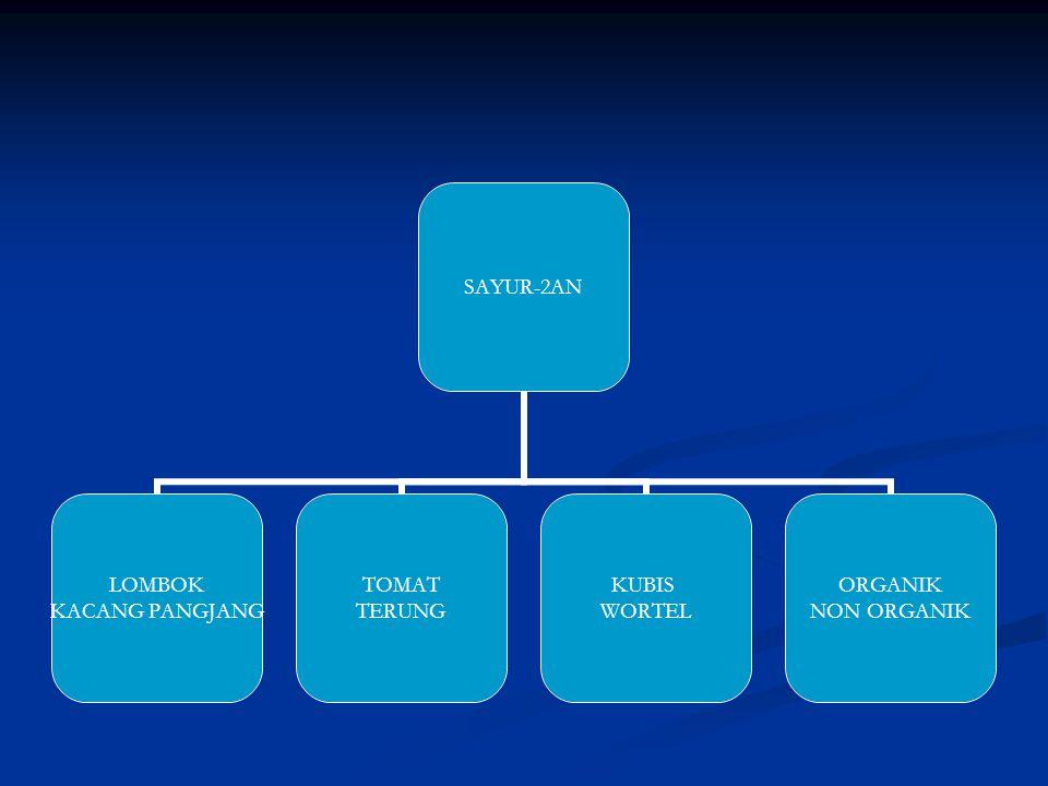 SAYUR-2AN LOMBOK KACANG PANGJANG TOMAT TERUNG KUBIS WORTEL ORGANIK NON ORGANIK