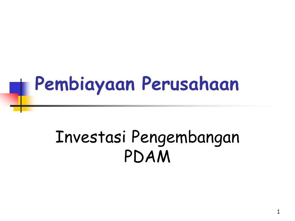 1 Pembiayaan Perusahaan Investasi Pengembangan PDAM