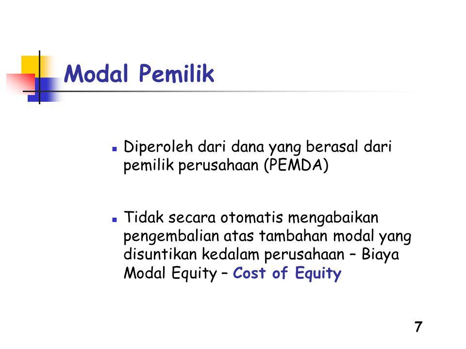 8 Hutang  Tingkat Bunga Pinjaman  Pinjaman Komersial atau Pinjaman Lunak  Tetap atau Fluktuasi  Periode Pengembalian  Jangka Pendek  Jangka Panjang  Masa Tenggang Pengembalian