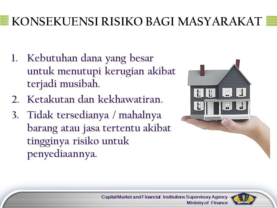 LOGO Capital Market and Financial Institutions Supervisory Agency Ministry of Finance JENIS ASURANSI …(1)  Jenis obyek pertanggungan: 1.Asuransi Jiwa => obyek pertanggungan meninggal/hidupnya seseorang.