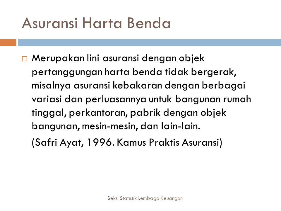 Seksi Statistik Lembaga Keuangan Contoh Asuransi Harta Benda PT. Asuransi Mitsui Sumitomo Indonesia