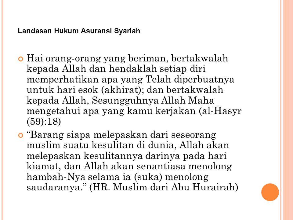 Fungsi dan Tujuan Asuransi Syariah Adapun yang menjadi tujuan dari pendirian asuransi adalah: Menjaga konsistensi pelaksanaan syariah di bidang keuangan.