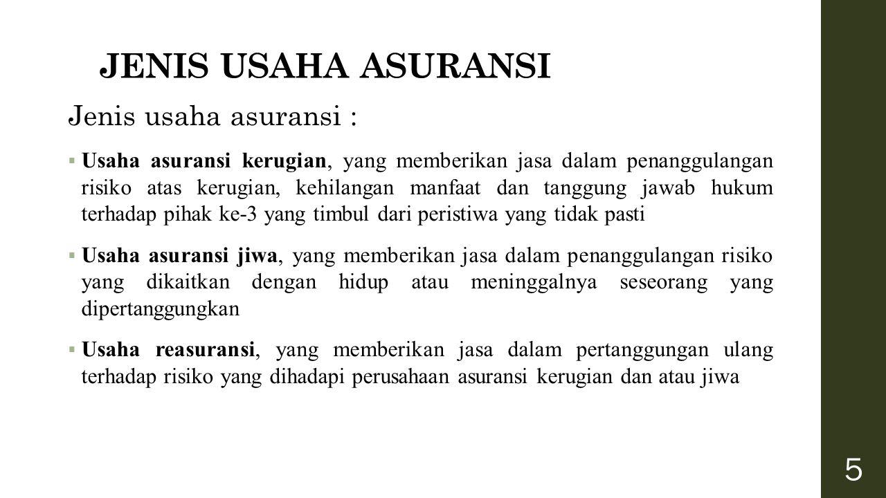 KLASIFIKASI PERUSAHAAN ASURANSI Klasifikasi Perusahaan Asuransi di Indonesia 1.