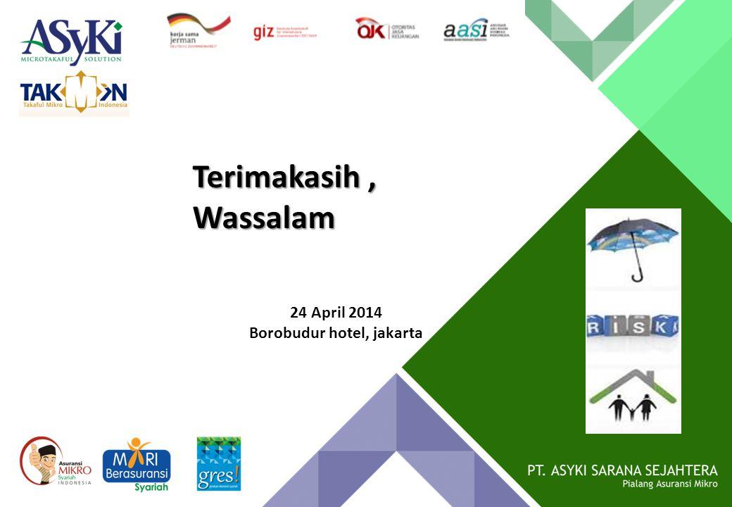 Terimakasih, Wassalam 24 April 2014 Borobudur hotel, jakarta