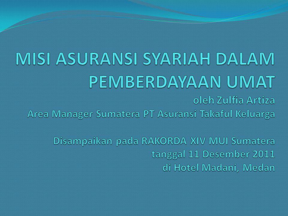 Mengapa Harus Asuransi Syariah Perbedaan Asuransi Konvensional dan Syariah 1.