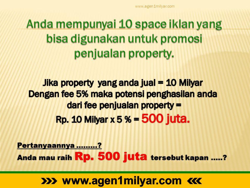 Pertanyaannya ………? Anda mau raih Rp. 500 juta tersebut kapan …..? www.agen1milyar.com