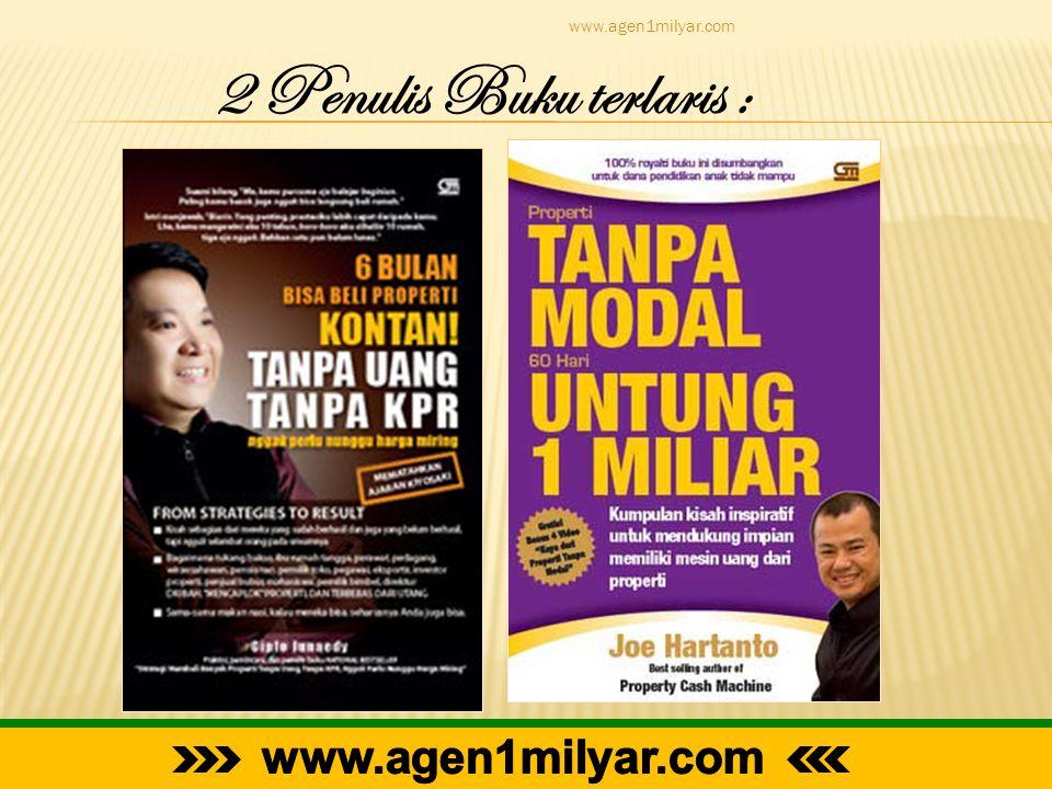 www.agen1milyar.com 2 Penulis Buku terlaris :