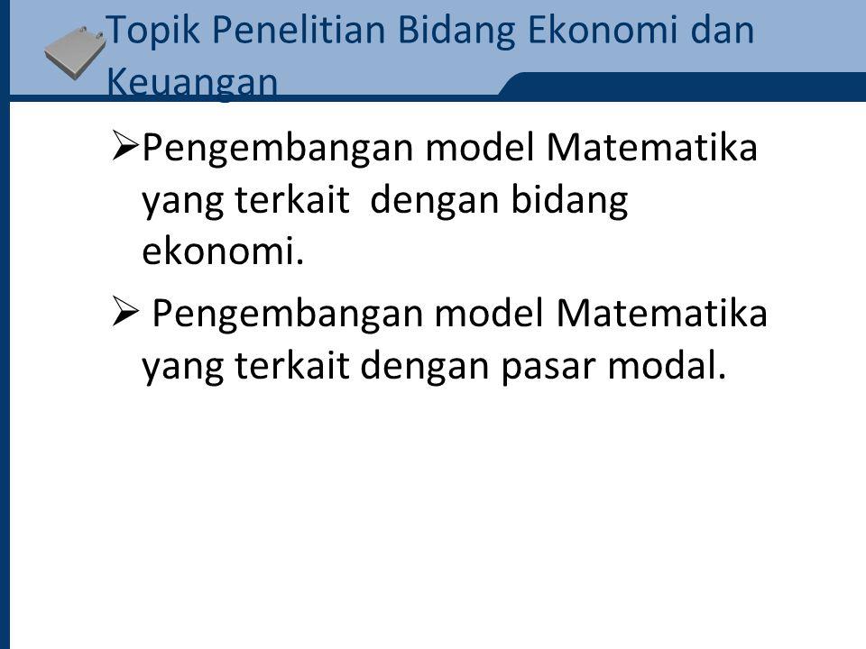 Judul Penelitian Bidang Aktuaria No.Nama Mahasiswa Judul Penelitian Mahasiswa S2 1 Amiruddin Penentuan Peluang Bertahan dalam Model Risiko Klasik dengan Menggunakan Transformasi Laplace.
