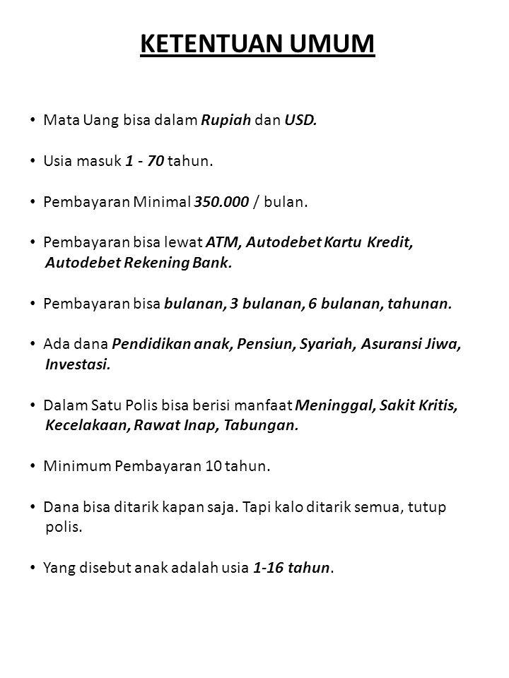 -JIWA -PENDIDIKAN -PENSIUN -UNIT LINK ASURANSI UMUMKESEHATANJIWA -MURAH -HANGUS -REVIEW TAHUNAN MANAGEMENT -Presiden Direktur -Wakil Presdir -Manager -Supervisor -Office Boy Kantor Pusat : Sudirman Training Office : Kota Kasablanka AGENCY -Agen -Unit Manager -Senior Unit Manager -Agency Manager 270 Kantor Agency di seluruh Indonesia
