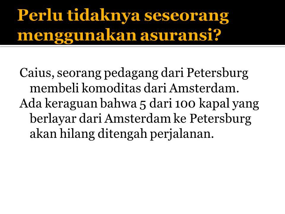 Caius, seorang pedagang dari Petersburg membeli komoditas dari Amsterdam.