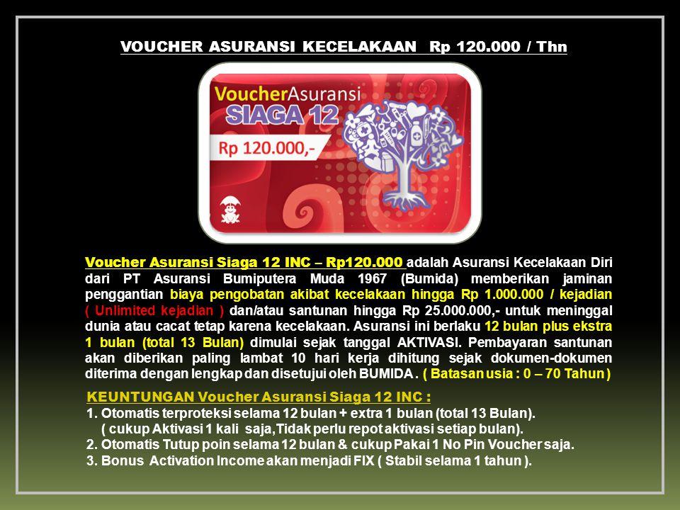 KEUNTUNGAN Voucher Asuransi Siaga 12 INC : 1.