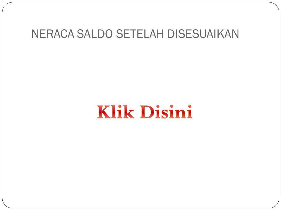 NERACA SALDO SETELAH DISESUAIKAN