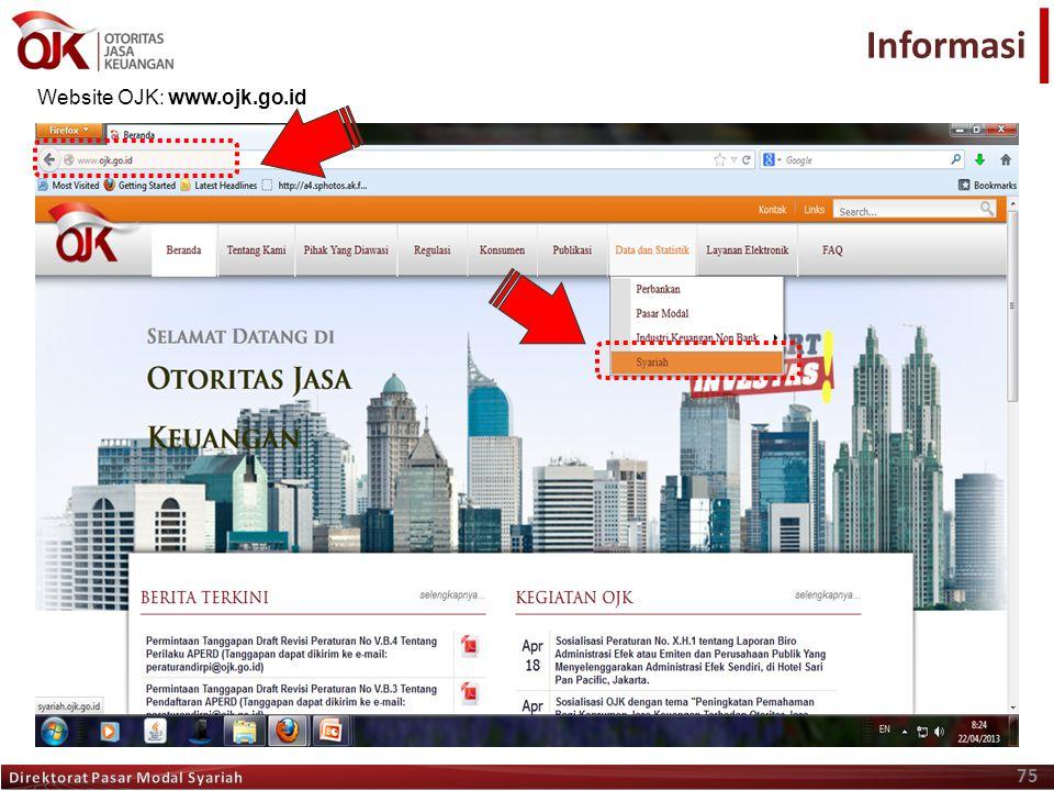 75 Terima Kasih Website OJK: www.ojk.go.id Informasi