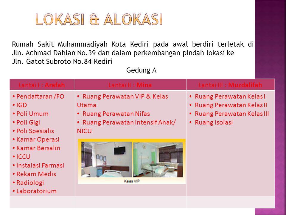 Rumah Sakit Muhammadiyah Kota Kediri pada awal berdiri terletak di Jln.