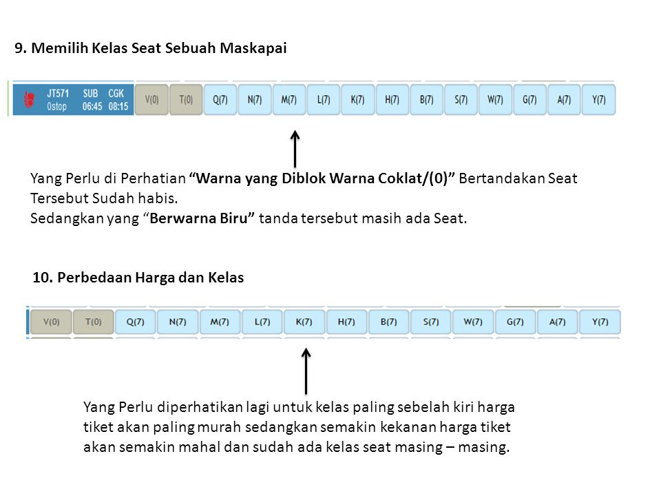 11.Flight dan Fare Summary 1. harga yang tampil adalah harga published dari airlines.