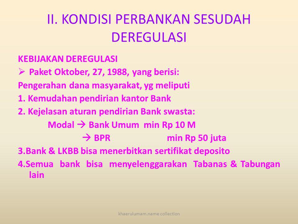Lanjutan 6.Kesulitan muncul bank baru. 7.Persaingan antar bank yang tidak ketat. 8.Posisi tawar menawar bank relatif kuat daripada nasabah 9.Prosedur