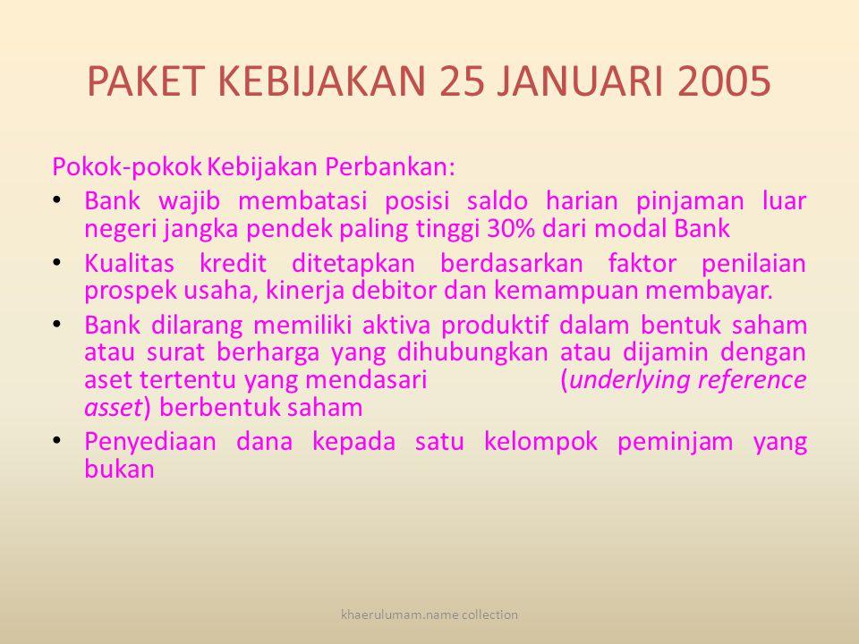 KONDISI SAAT KRISIS AKHIR TAHUN 1997 • Tingkat kepercayaan masyarakat & luar negeri terhadap perbankan Indonesia menurun drastis • Sebagian besar Bank