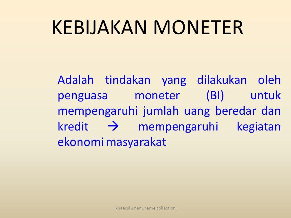 BI SEBAGAI BANK SENTRAL INDONESIA BERTUGAS: 1.Menetapkan dan melaksanakan Kebijakan Moneter 2.Mengatur dan menjaga kelancaran sistem pembayaran 3.Meng