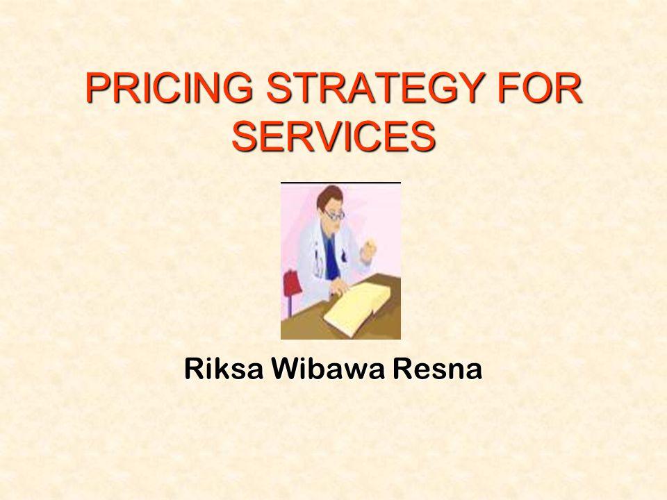 22 •Value based pricing  harga ditentukan atas dasar nilai jasa yg dipersepsikan (perceived value) oleh segmen konsumen tertentu.
