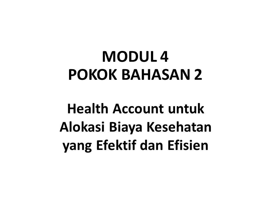 MODUL 4 POKOK BAHASAN 2 Health Account untuk Alokasi Biaya Kesehatan yang Efektif dan Efisien