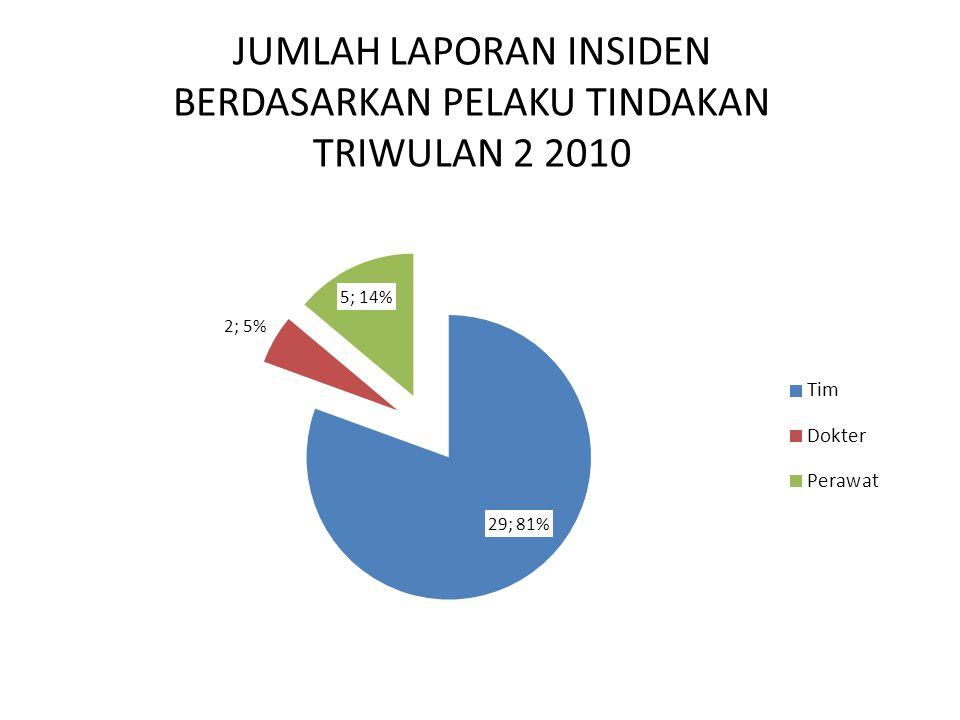 JUMLAH LAPORAN INSIDEN BERDASARKAN PELAKU TINDAKAN TRIWULAN 2 2010