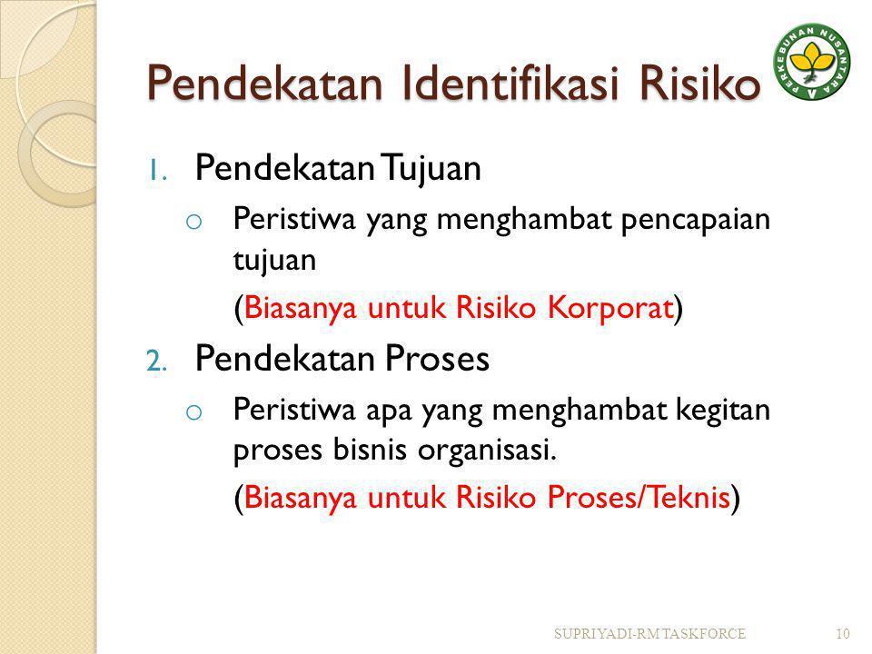 Pendekatan Identifikasi Risiko 1.