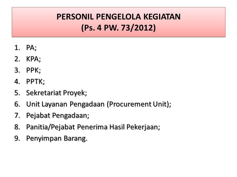 TUGAS & TANGGUNG JAWAB PENGGUNA ANGGARAN / PENGGUNA BARANG (Ps.