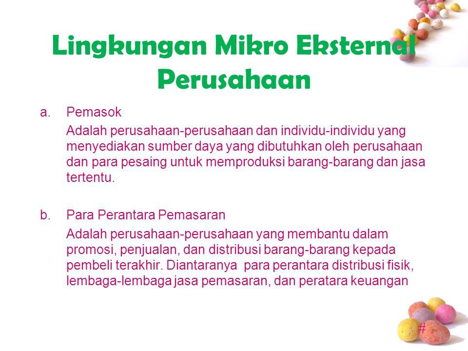 # Lingkungan Mikro Eksternal Perusahaan b1.