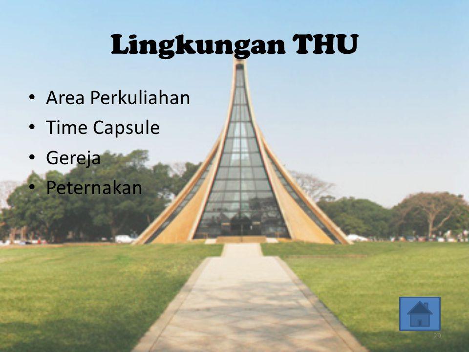 Lingkungan THU • Area Perkuliahan • Time Capsule • Gereja • Peternakan 29