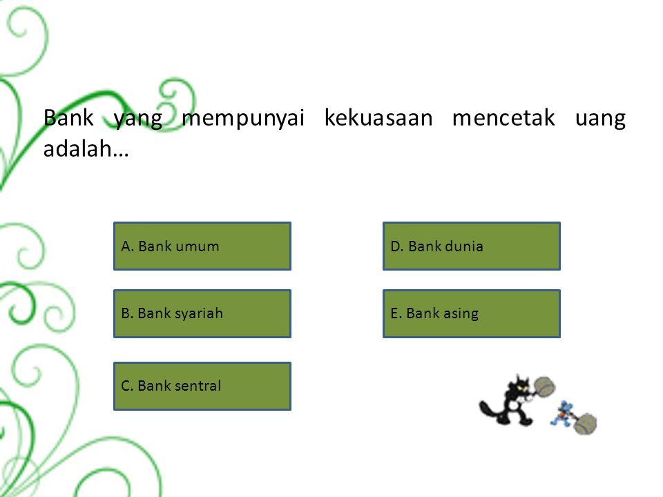 Salah satu kewenangan Bank Indonesia dalam tugasnya mengatur dan mengawasi bank adalah… A. Mengatur sistem kriling dan menyelenggarakan kliring antar