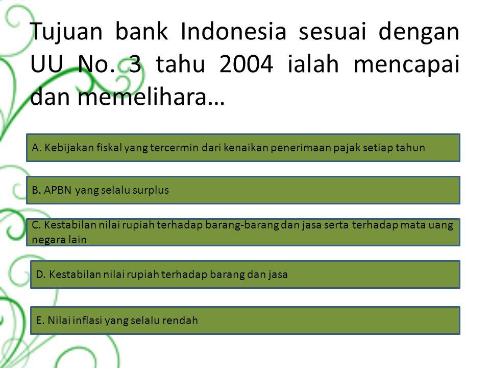 Bank yang tidak boleh menerima simpanan berupa giro dan ikut serta dalam lalu lintas pembayaran adalah… A. Bank umum B. Bank asing C. Bank sentral D.