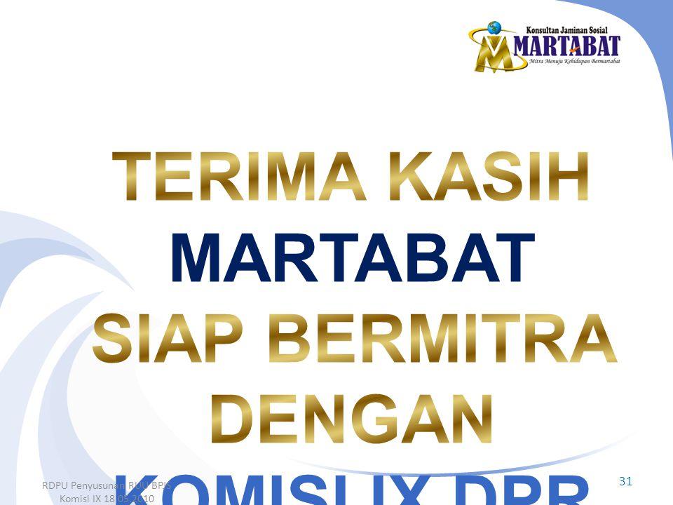 31 RDPU Penyusunan RUU BPJS Komisi IX 18.05.2010