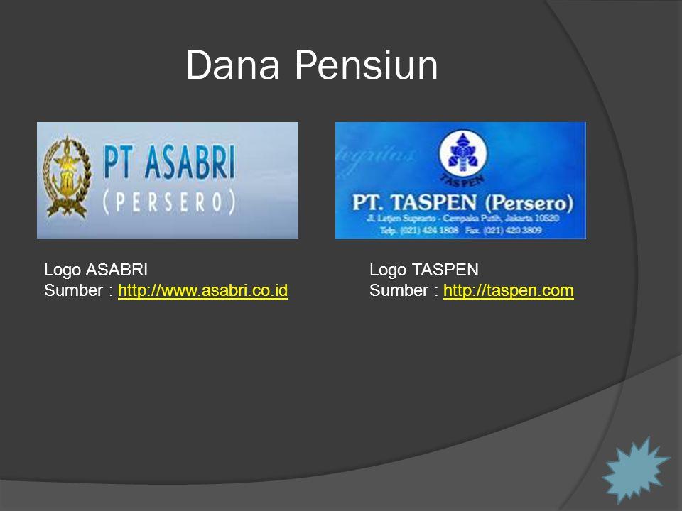 Dana Pensiun Logo ASABRI Sumber : http://www.asabri.co.idhttp://www.asabri.co.id Logo TASPEN Sumber : http://taspen.comhttp://taspen.com
