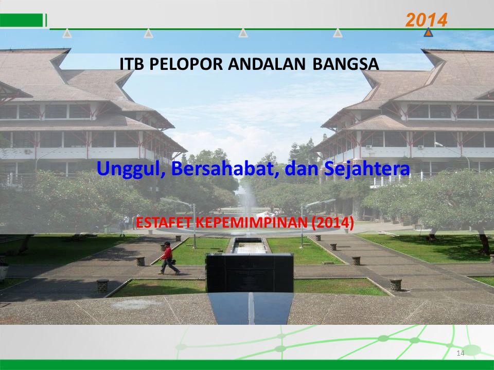 14 2014 ITB PELOPOR ANDALAN BANGSA Unggul, Bersahabat, dan Sejahtera ESTAFET KEPEMIMPINAN (2014)