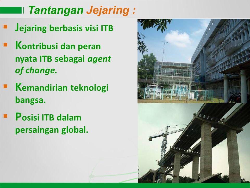 5  J ejaring berbasis visi ITB  K ontribusi dan peran nyata ITB sebagai agent of change.