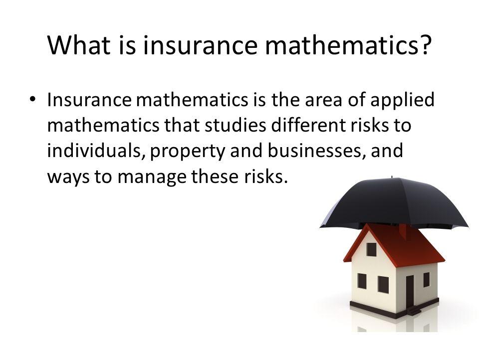 Utility function for the insurer H: acceptable premium; X: random loss u(w)=E[u(w+H-X)] Jensen's inequality u(w)=E[u(w+H-X)] ≤ u(w+H-  ) We can conclude that H ≥ 