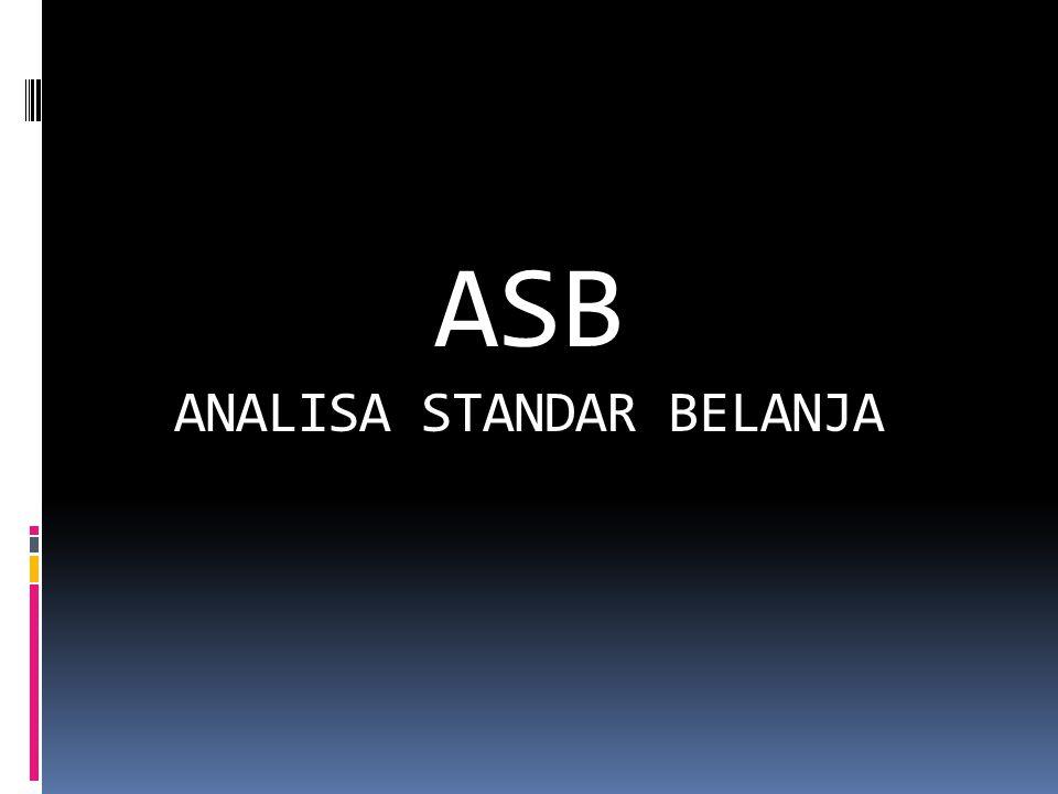ASB ANALISA STANDAR BELANJA