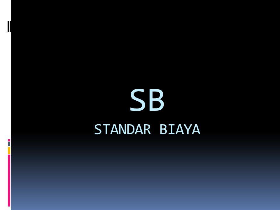 SB STANDAR BIAYA