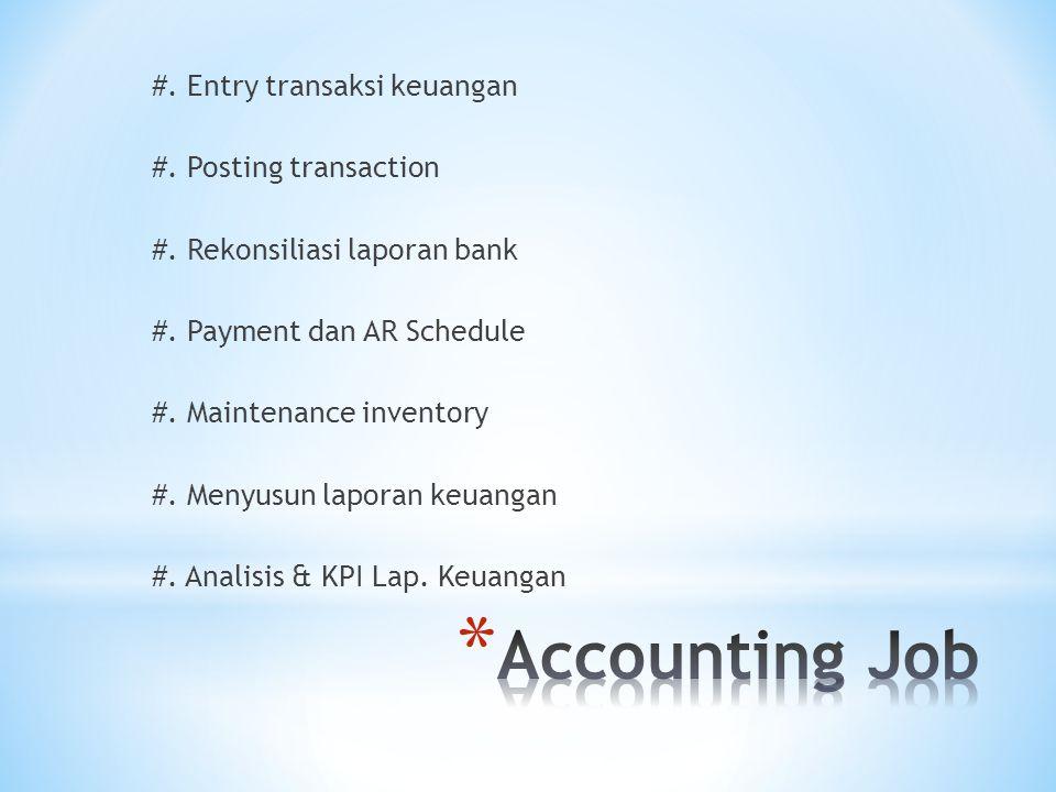 #. Entry transaksi keuangan #. Posting transaction #.