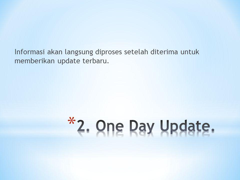 Informasi akan langsung diproses setelah diterima untuk memberikan update terbaru.