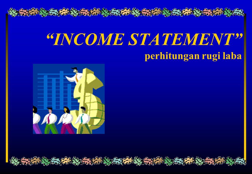 """INCOME STATEMENT"" perhitungan rugi laba"
