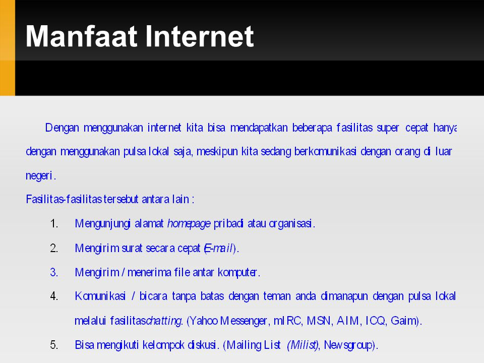 Manfaat Internet