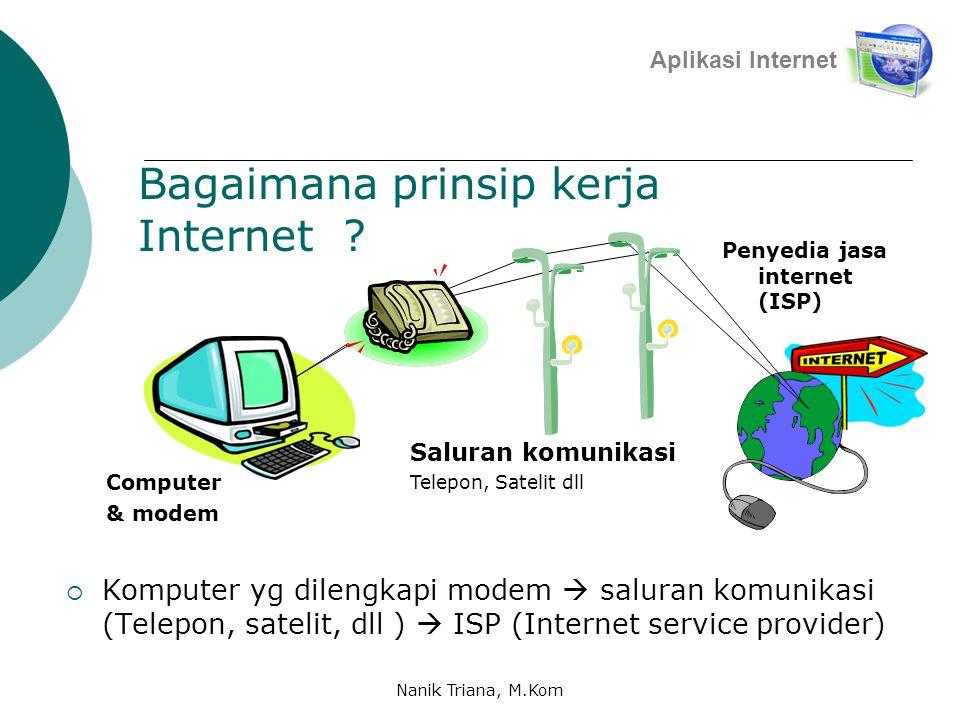 Apa Saja yang bisa diperoleh dari internet ???  Begitu banyak mamfaat yg bisa kita peroleh dengan internet :  Sumber Informasi  Sarana Komunikasi 