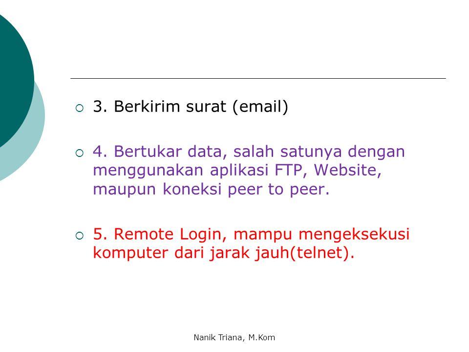  3.Berkirim surat (email)  4.
