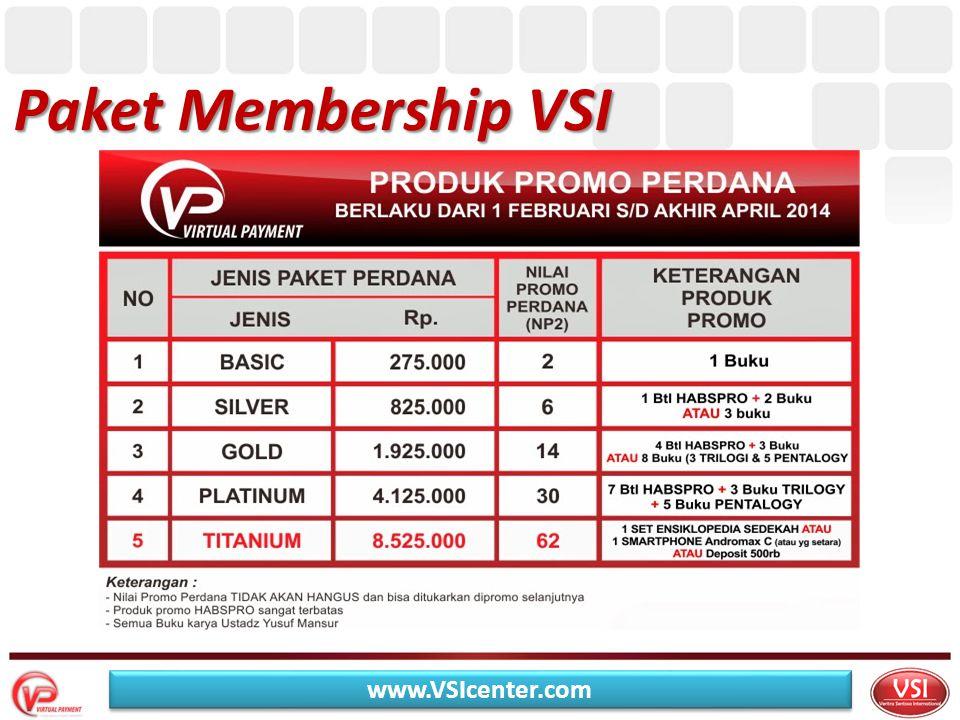 Paket Membership VSI www.VSIcenter.com